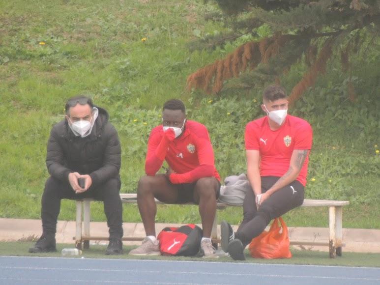 Joao con Appiah y Samú Costa.