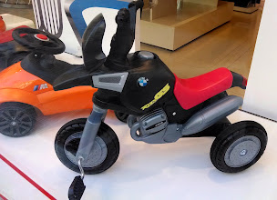 Photo: BMW kiddie motorcycle