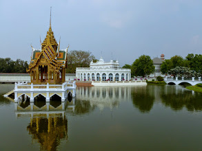 Photo: We went by boat up the Chao Praya River to Bang Pa-In, the summer palace of the kings.