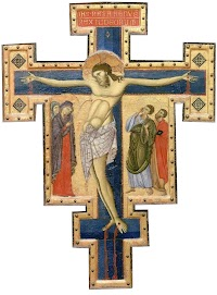 Maestro di san francesco, croce dipinta, umbria 1262-70 ca., Musée du Louvre, Paris