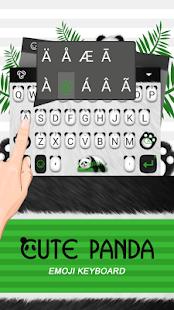 Cute Panda Theme&Emoji Keyboard - náhled