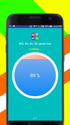 Wifi, 5G, 4G, 3G speed test - screenshot