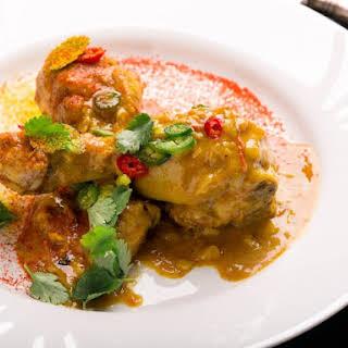 Delicious Saffron Curry Chicken.
