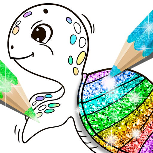 Glitter Coloring Book for Kids: Kids Games