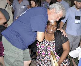Photo: A hug of appreciation for Shelly