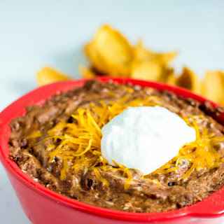 Quick and Easy 4 Ingredient Bean Dip.