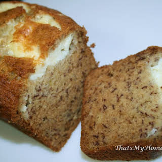 Banana Cream Cheese Bread.