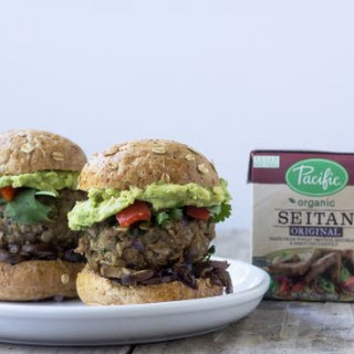 Spicy Vegan Seitan Burgers Recipe
