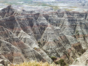 Photo: I liked how uniform the layers were on each slope, peak and butte