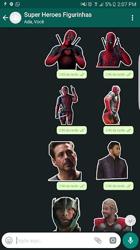 +100 Marvel WAStickerApps Figurinhas Super Heroes 이미지[1]