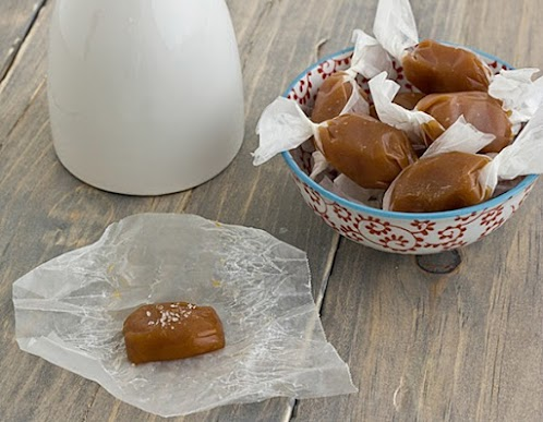 Spiced Sweet Potato Caramels