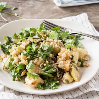 Miso Glazed Turnip & Kohlrabi Salad.