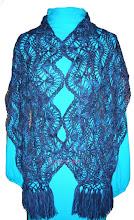 Photo: палантин-шарф, связанный на вилке