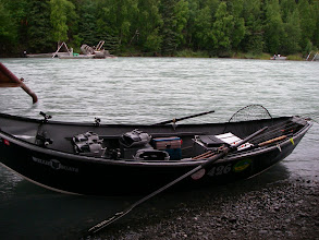 Photo: Kasilof is a drift only river, that means no power boats. Alaska Drift Away Fishing uses 20 ft Willie drift boats for all of our salmon fishing trips on the Kasilof river.