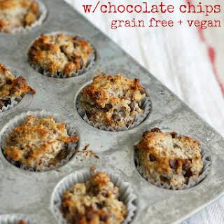 Banana Almond Meal Muffins - Grain Free, Vegan..