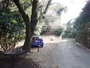 龍仙山の駐車地・登り口