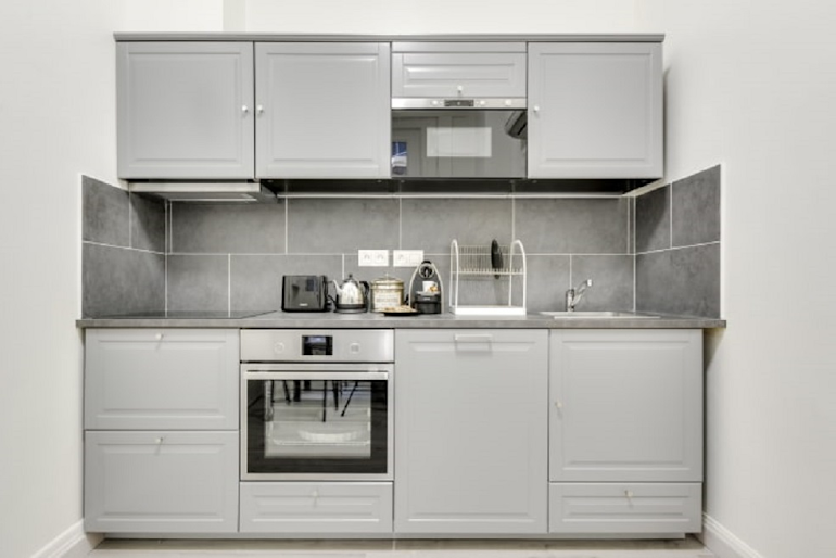 Luxury kitchen at Boetie IV Serviced Apartment, Champs Elysees