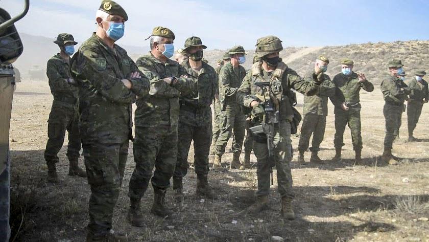 Inspección del ejercicio con la integración de equipos de la Brigada 2035 (FOTO: BRILEG)