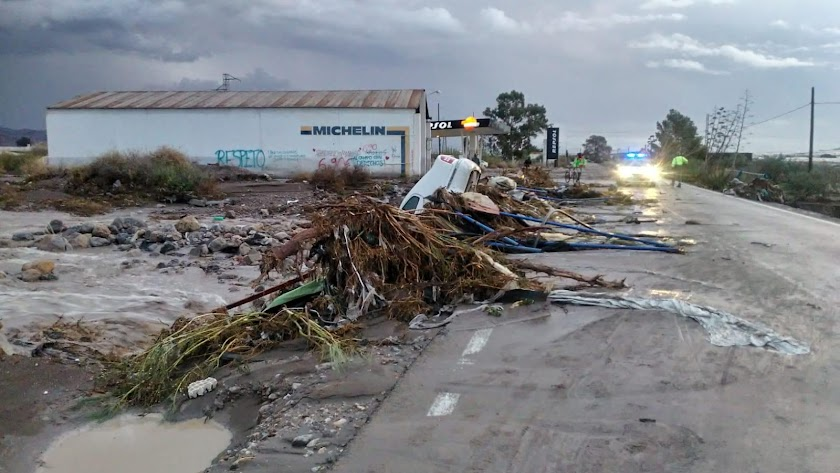 Imagen de la carretera de San José durante el día de ayer.