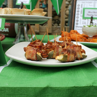 Bacon Wrapped BBQ Chicken Jalapeno Poppers