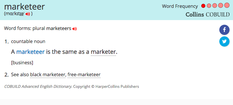 marketeer-spelling-collins-english-dictionary