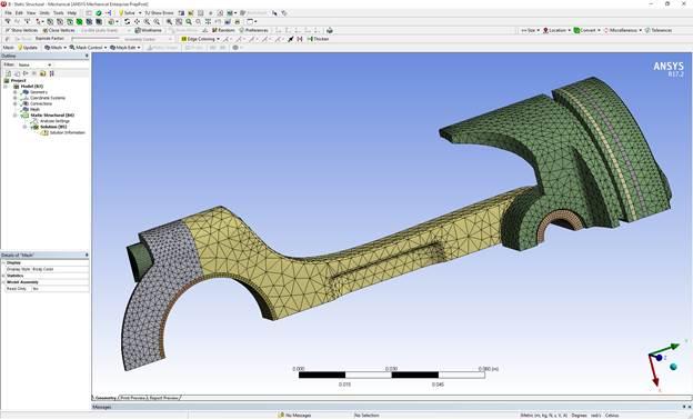 Передача модели из ANSYS AIM в Mechanical происходит автоматически и не требует дополнительных действий. Инженер-расчетчик сразу может продолжить работу над моделью.