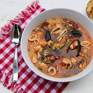 Sicilian Seafood Soup With Couscous.