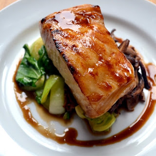Brown Sugar Glazed Chilean Sea Bass.