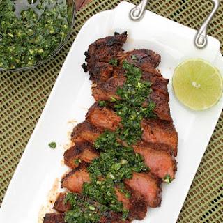 Skirt Steak with Kale Chimichurri Sauce