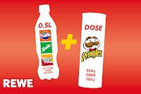 Angebot für Fanta Orange, Sprite oder mezzo mix + Pringles im Supermarkt