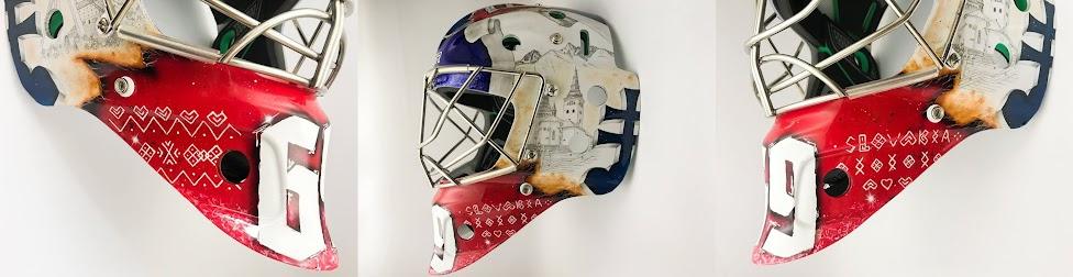 Čičmańskie wzory, maska hokejowa