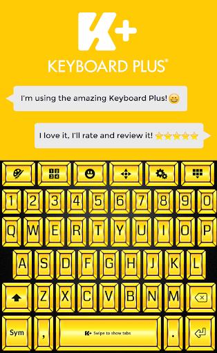 Gold Theme Keyboard