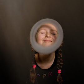 Ring of Fire by Jiri Cetkovsky - Babies & Children Child Portraits ( game, ring, smoke, girl, portrait )