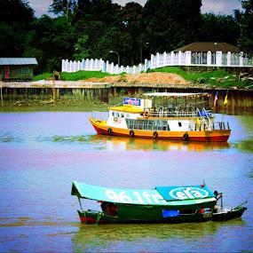 Sarawak River Cruise. by Awang Kassim - Transportation Boats ( transportation, boat )