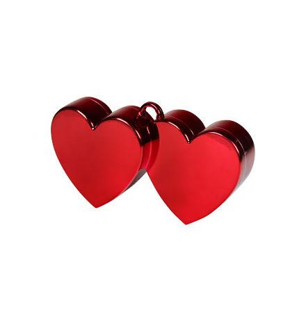 Ballongtyngd - Dubbelhjärta röd