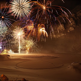 2018/2019 by Sorin Lazar Photography - Public Holidays New Year's Eve ( outdoor, night_photography, nature, outside, new_year, fagaras_mountains, winter, balea_lac, fireworks, colors, altitude2034m )