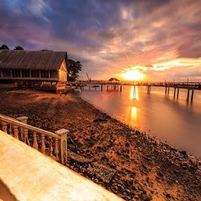 Return  by Sherry Zhao - Landscapes Sunsets & Sunrises ( pwcsunbeams-dq,  )