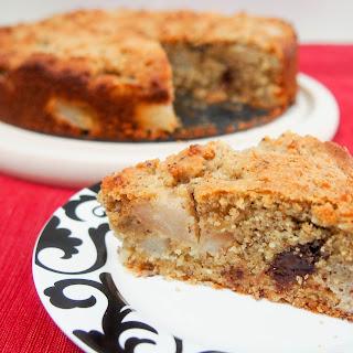 Gluten-free hazelnut pear cake #FoodieExtravaganza