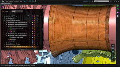 Photo: The Model Browser showcases the hiearchy of the geometry and mesh.