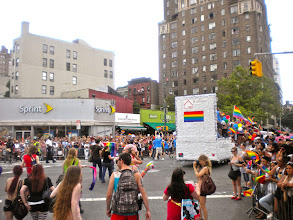 Photo: The Heritage of Pride gay pride march, West 8 Street and Avenue of the Americas, Greenwich Village, 26 June 2011. (Photograph by Elyaqim Mosheh Adam.)