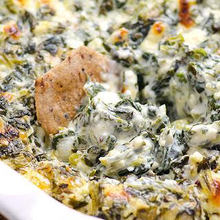 Clean Eating Baked Spinach Feta Dip