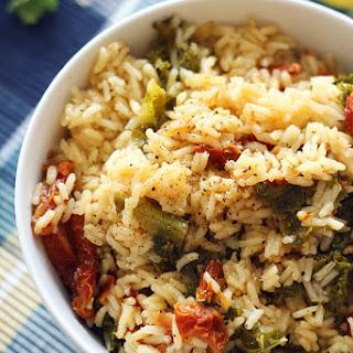 Mediterranean Chicken and Rice Bowl.