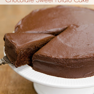Sweet Potato Chocolate Cake with Chocolate Sweets Frosting (vegan, oil-free).