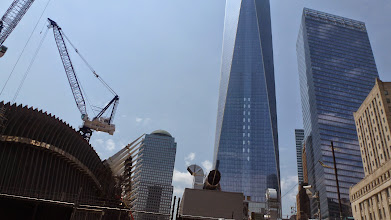 Photo: Approaching the World Trade Center area, the freedom tower in center