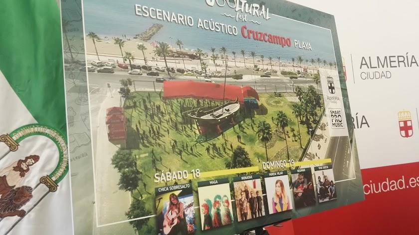 Presentación del escenario de playa del Cooltural Fest.