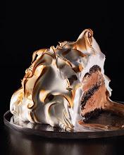 Photo: chocolate cake and ice cream!
