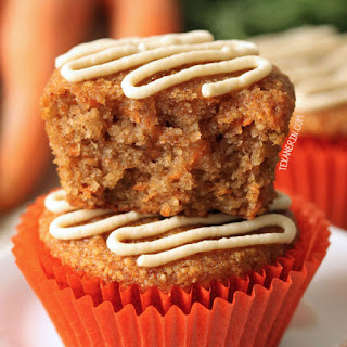 Healthier Carrot Cake Cupcakes (grain-free, gluten-free, paleo and dairy-free options).