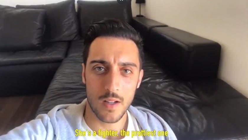 Sergio Aguza participa en el vídeo del Almería.