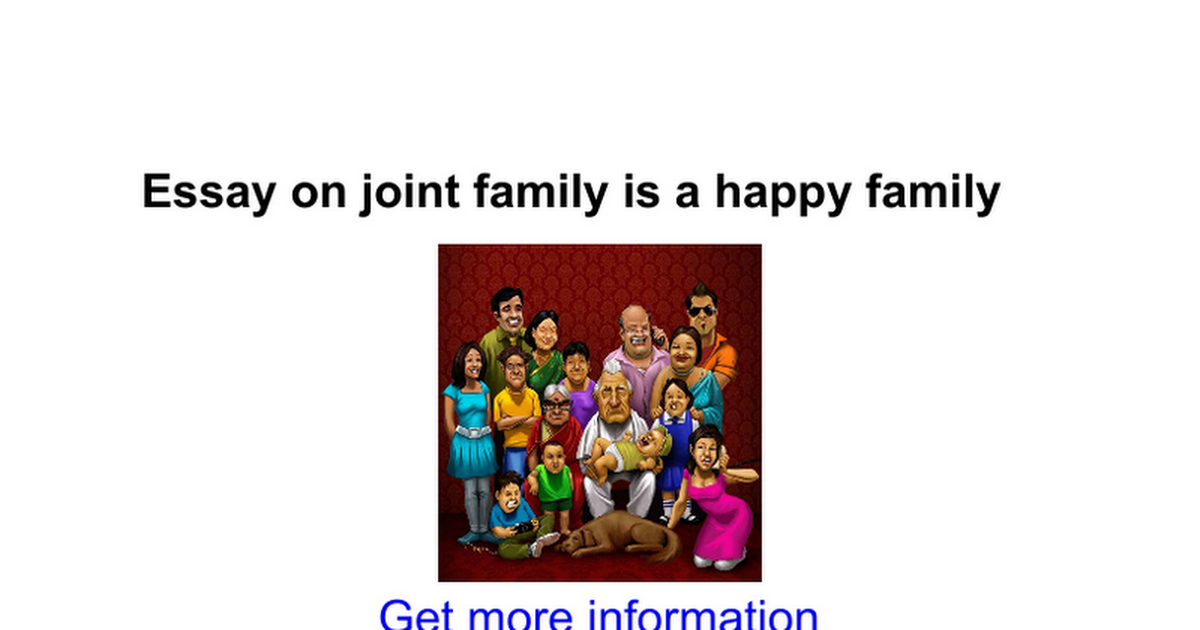 essay on joint family is a happy family google docs