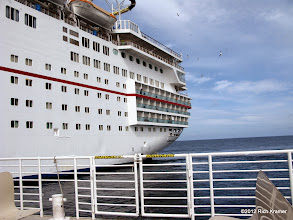 Photo: Our cabin was on the lowest deck of balconies, third from the end.  We had no problems with any aspect of the cabin.